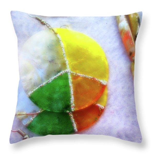 Peace Throw Pillow by Molly McPherson