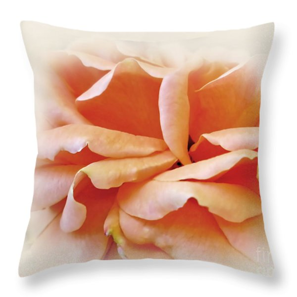 Peach Delight Throw Pillow by Kaye Menner
