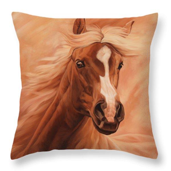 Peach Throw Pillow by JQ Licensing