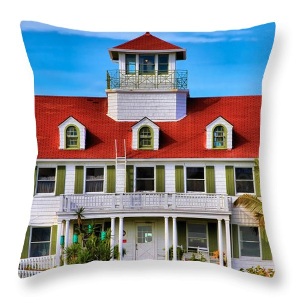 Peanut Island Throw Pillow by Debra and Dave Vanderlaan
