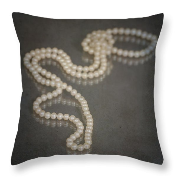 pearl necklace Throw Pillow by Joana Kruse