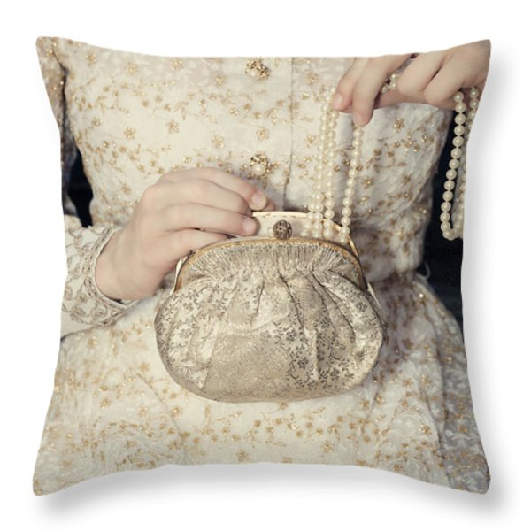 pearls Throw Pillow by Joana Kruse