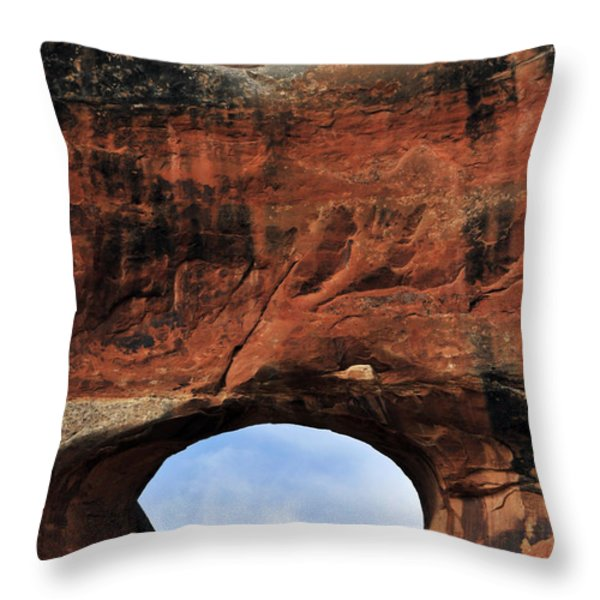 Peek A Boo Throw Pillow by Skip Hunt