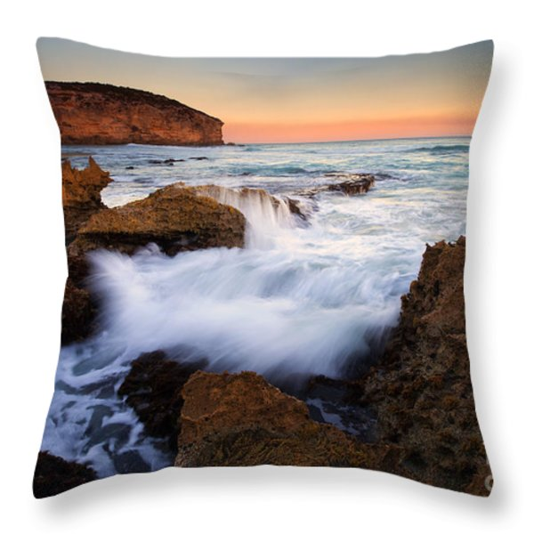 Pennington Pastel Sunset Throw Pillow by Mike  Dawson