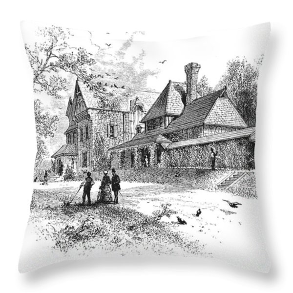 Pennsylvania: House, 1876 Throw Pillow by Granger
