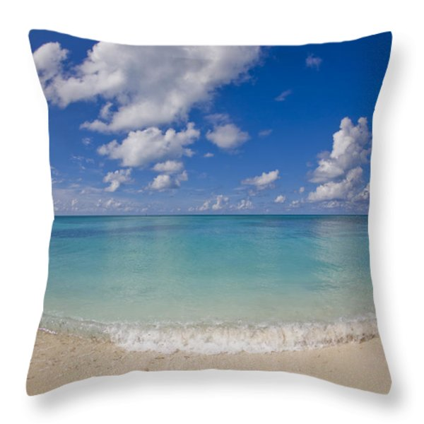 Perfect Beach Day With Blue Skies Throw Pillow by Mike Theiss