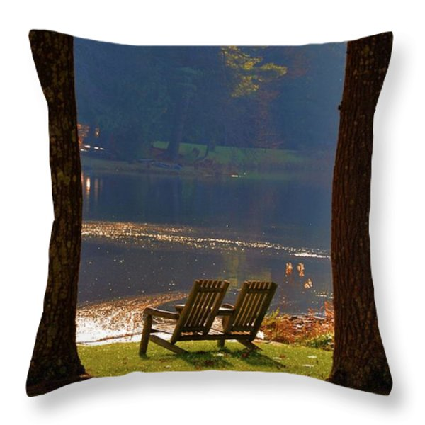 Perfect Morning Place Throw Pillow by Bill Cannon