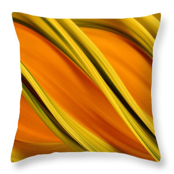 Peripheral Streak Image Of Squash Throw Pillow by Ted Kinsman