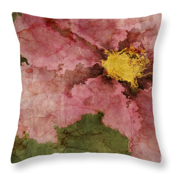 Petaline - ar01bt05 Throw Pillow by Variance Collections