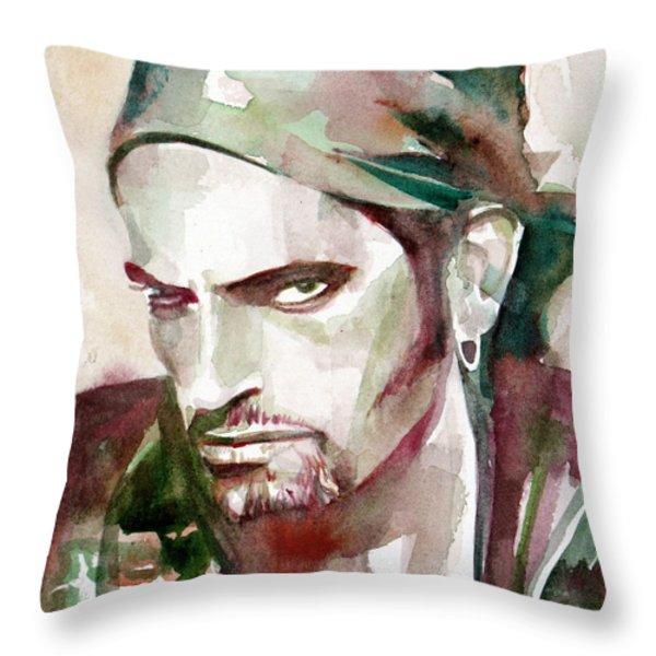 Peter Steele Portrait.6 Throw Pillow by Fabrizio Cassetta