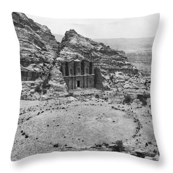 Petra, Jordan Throw Pillow by Photo Researchers