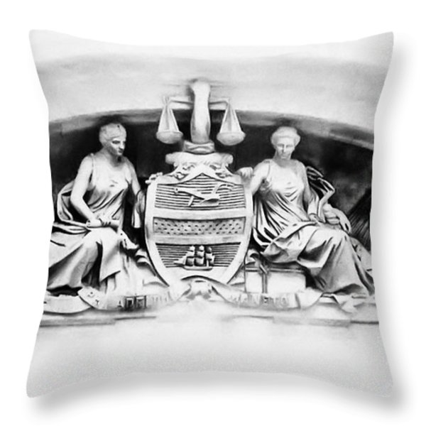 Philadelphia City Hall Fresco Throw Pillow by Bill Cannon