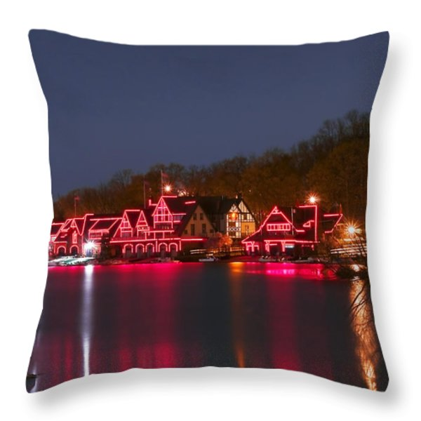 Philadelphia Night Throw Pillow by Svetlana Sewell