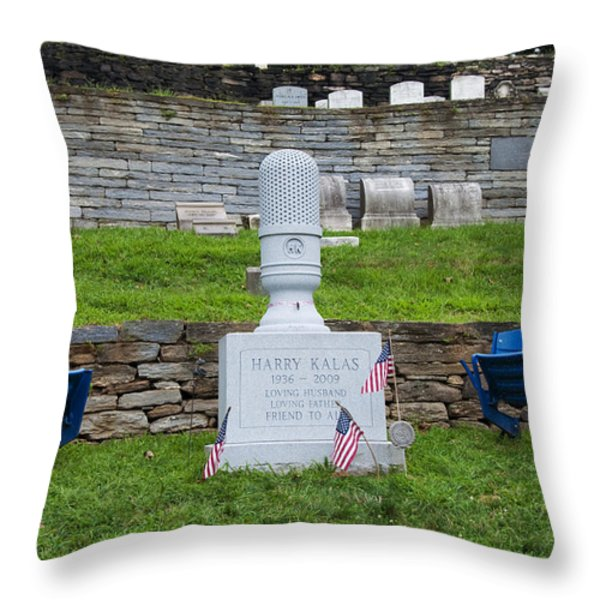 Phillies Harry Kalas' Grave Throw Pillow by Bill Cannon