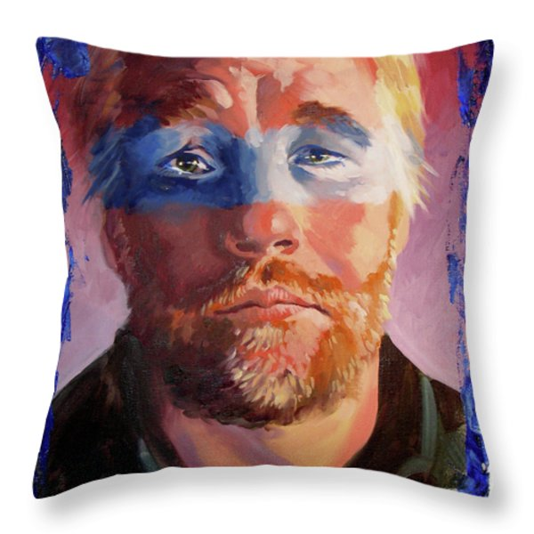 Phillip Seymour Hoffman Throw Pillow by Ken Meyer jr