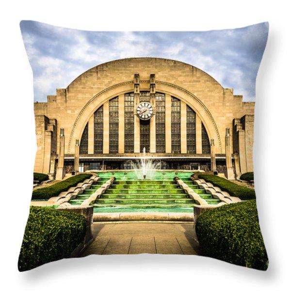 Photo Of Cincinnati Museum Center  Throw Pillow by Paul Velgos