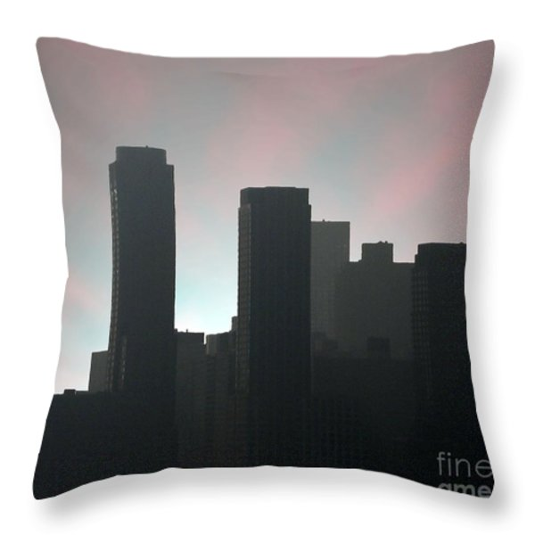 Photograph Of Manhattan In The Morning  Throw Pillow by Mario Perez