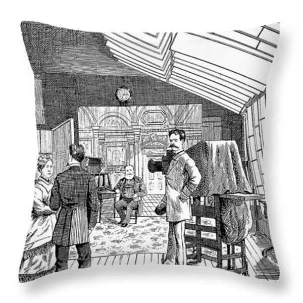 Photography Studio, 1876 Throw Pillow by Granger