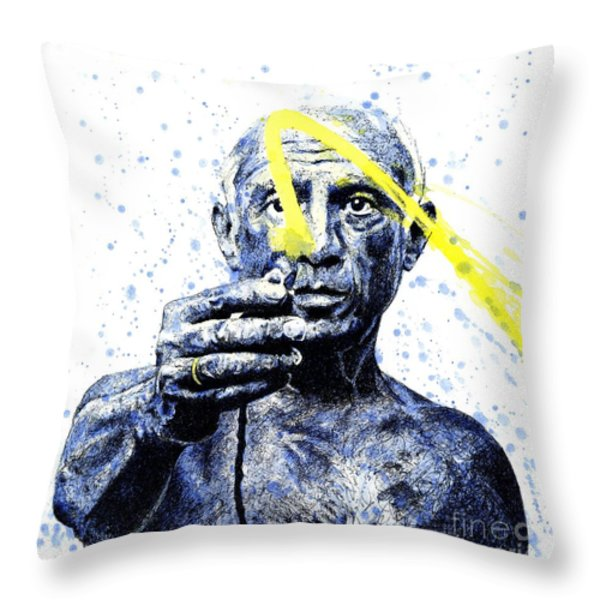 Picasso Throw Pillow by Chris Mackie