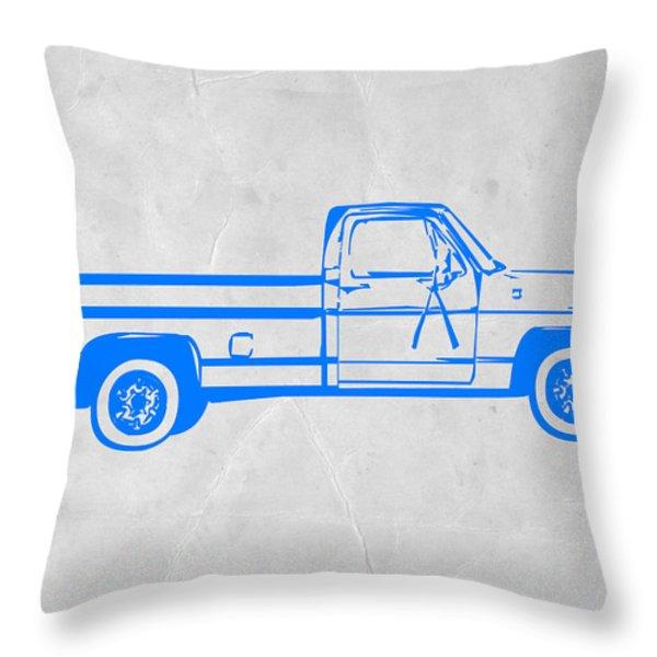 Pick Up Truck Throw Pillow by Naxart Studio