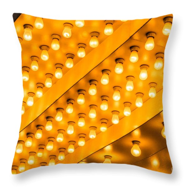 Picture of Theater Lights Throw Pillow by Paul Velgos