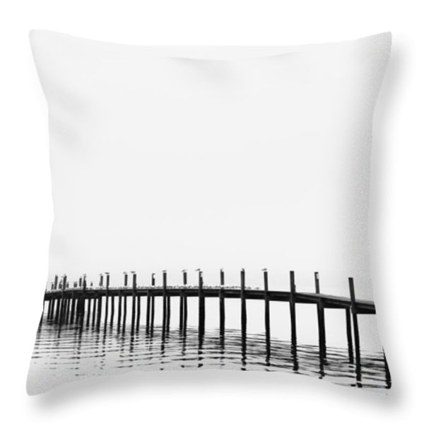 Pier Throw Pillow by Skip Nall