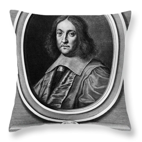 Pierre De Fermat, French Mathematician Throw Pillow by Photo Researchers, Inc.