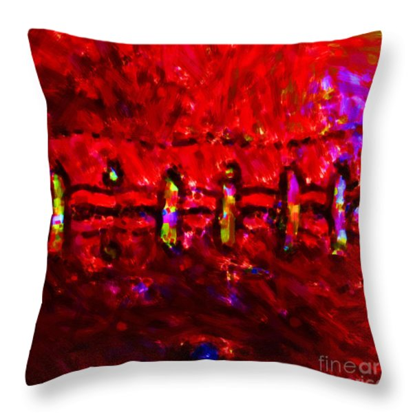 Pigskin - Square Throw Pillow by Wingsdomain Art and Photography