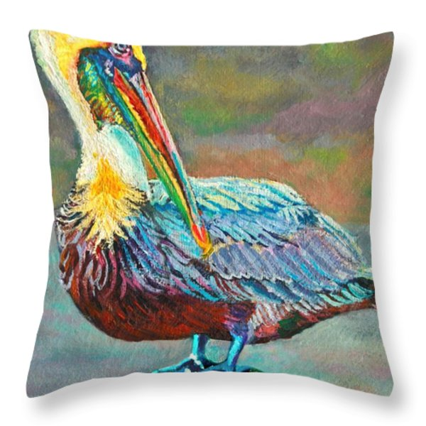 Pile High Pelican Throw Pillow by Lisa Tygier Diamond