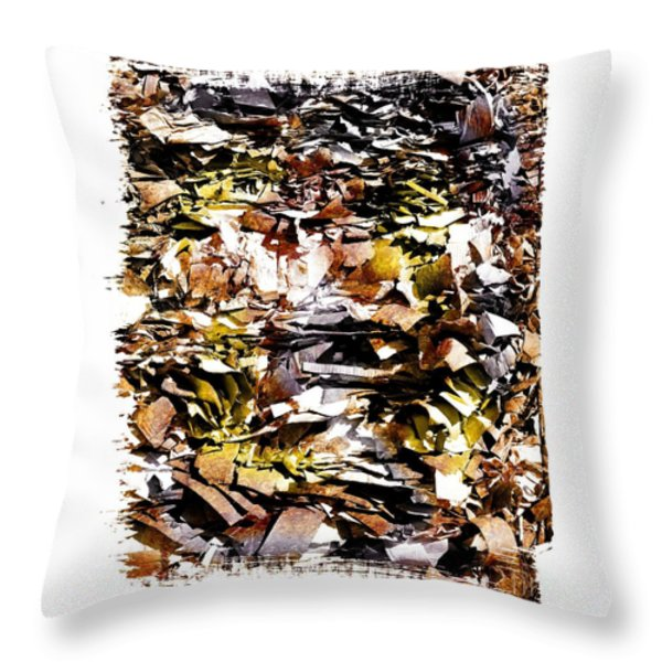Pile of crushed  paper for recycling Throw Pillow by BERNARD JAUBERT