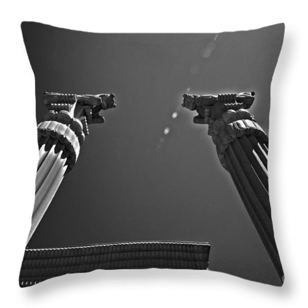 Pillars To Heaven Throw Pillow by Cheryl Young