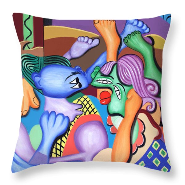 Pillow Talk Throw Pillow by Anthony Falbo