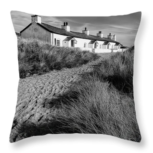Pilots Cottages Throw Pillow by Adrian Evans
