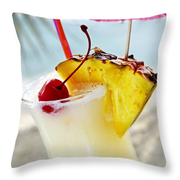 Pina colada Throw Pillow by Elena Elisseeva