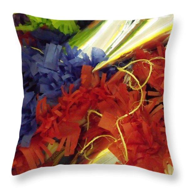 Pinata Pile Throw Pillow by Anna Villarreal Garbis