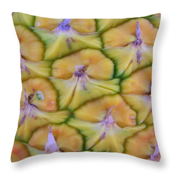Pineapple Eyes Throw Pillow by Mary Deal
