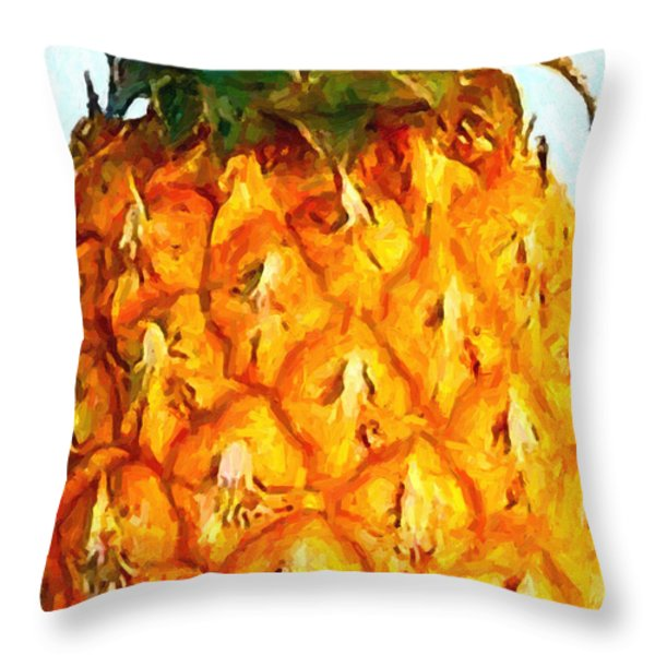 Pineapple Throw Pillow by Wingsdomain Art and Photography