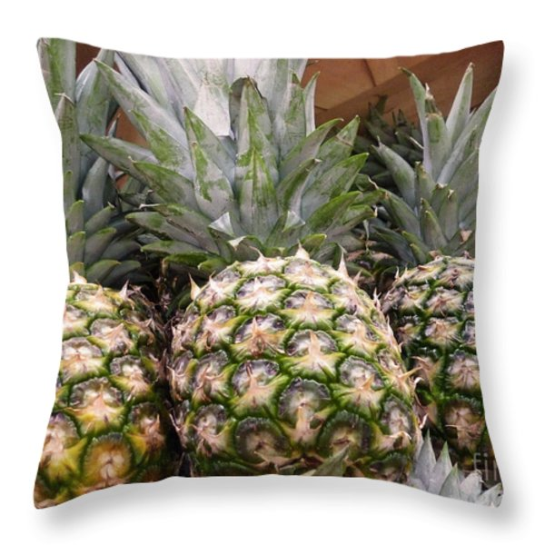 Pineapples Throw Pillow by Methune Hively