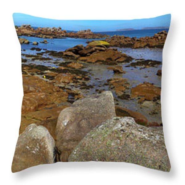 Pink Granite Coast Throw Pillow by Heiko Koehrer-Wagner