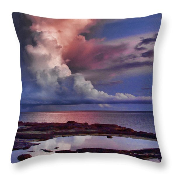 Pink Sky Throw Pillow by Douglas Barnard