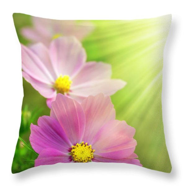 Pink Spring Throw Pillow by Carlos Caetano