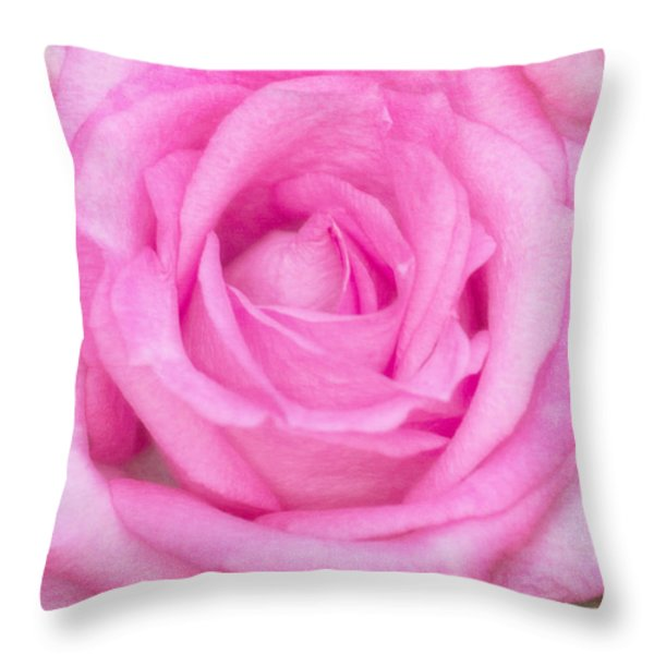 Pink Surprise Throw Pillow by Joan Bertucci