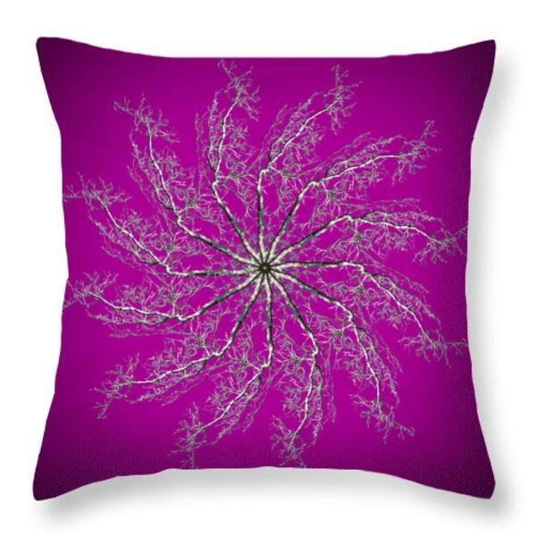 Pinwheel IIi Throw Pillow by Debra and Dave Vanderlaan