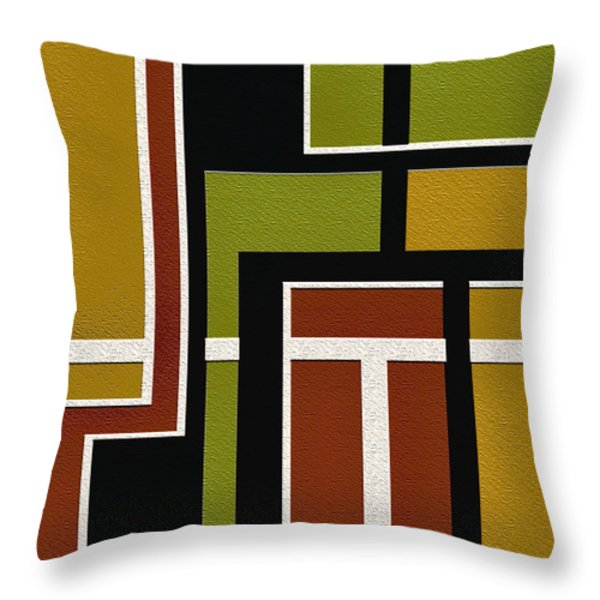 Pipeline Throw Pillow by Ely Arsha