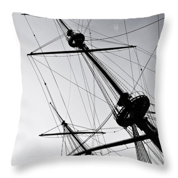 pirate ship Throw Pillow by Joana Kruse