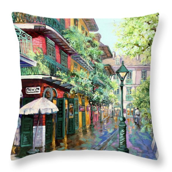 Pirates Alley Throw Pillow by Dianne Parks