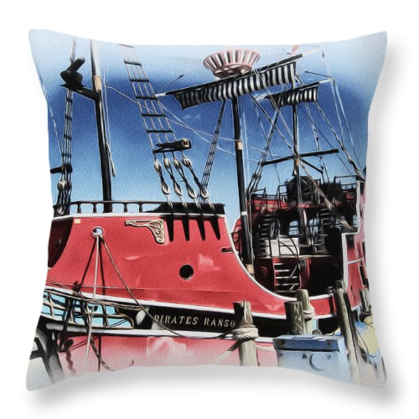 Pirates Ransom - Clearwater Florida Throw Pillow by Bill Cannon
