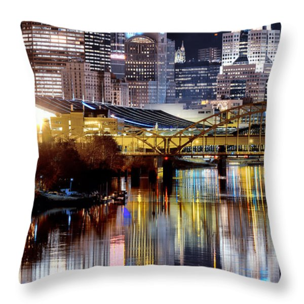 Pittsburgh 2 Throw Pillow by Emmanuel Panagiotakis