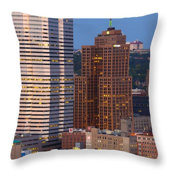 Pittsburgh Skyline 1 Throw Pillow by Emmanuel Panagiotakis