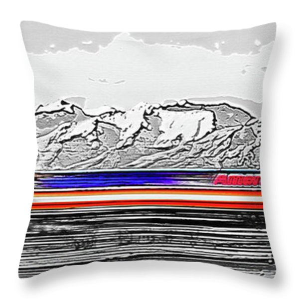 Plane at Airport 1 Throw Pillow by Steve Ohlsen